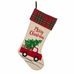 Merry Christmas Red Truck Stocking